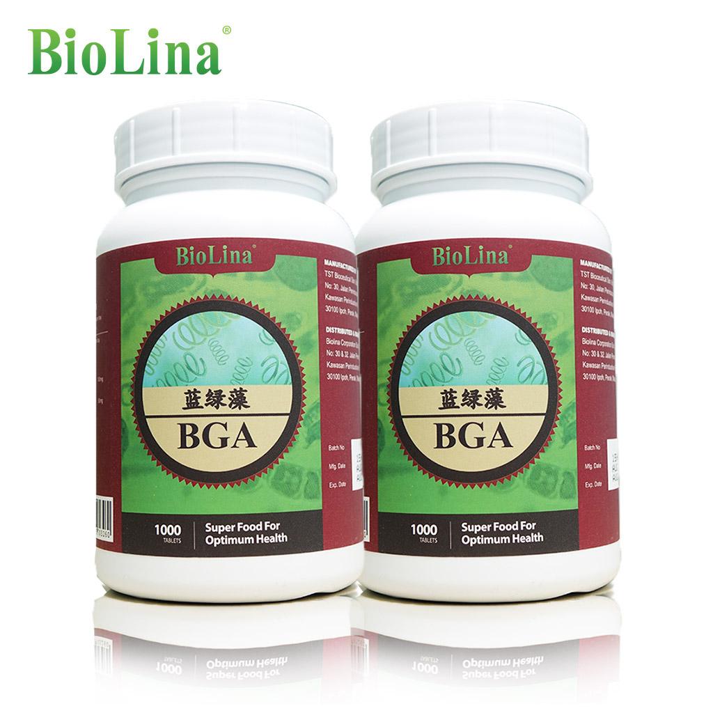 Biolina Spirulina BGA Blue Green Algae X2